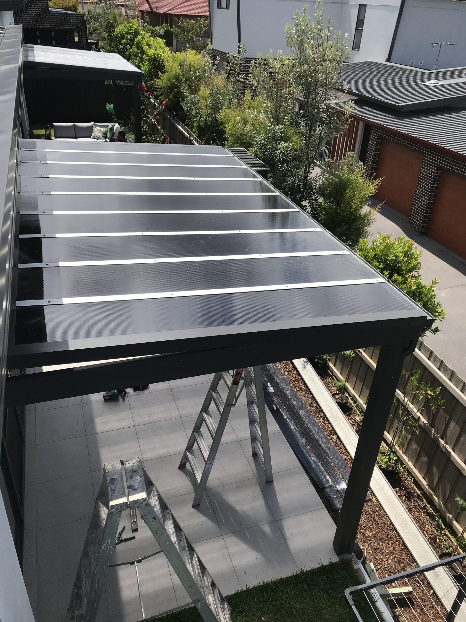 Mutliwall Polycarbonate roof Putney