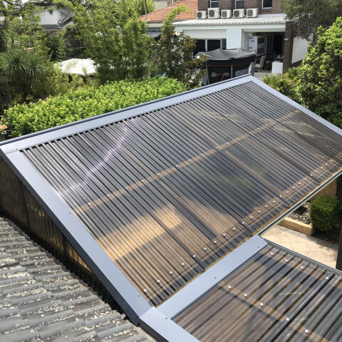 Polycarbonate Roof and Flashings 1 Five Dock